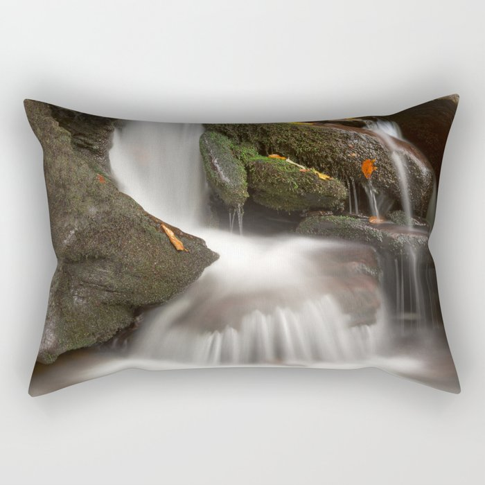 Crescent Crater Falls Rectangular Pillow