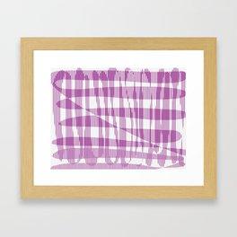 Purple/Violet Pattern Framed Art Print