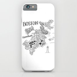 Boston Map iPhone Case