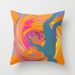 Head Down in The Tunnel Throw Pillow