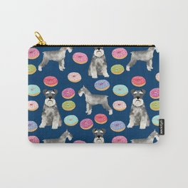 Schnauzer dog breed donuts doughnut pet art schnauzers pure breed gifts Carry-All Pouch