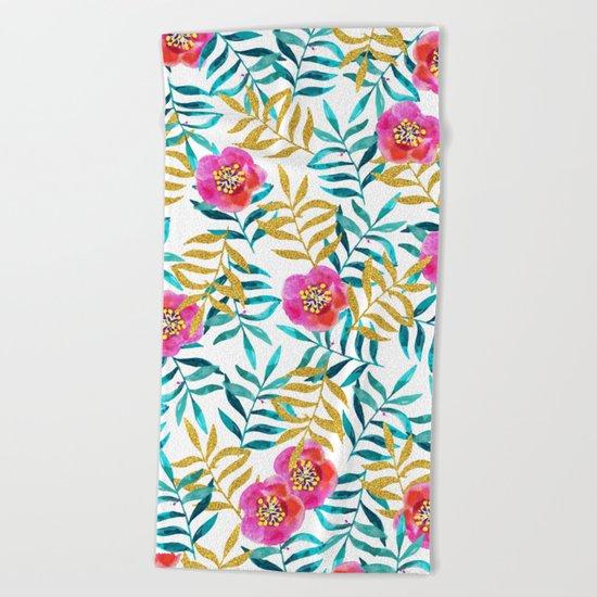 Floral Sweetness #society6 #decor #buyart Beach Towel