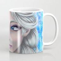 frozen elsa Mugs featuring Elsa by Kimberly Castello