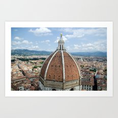 florence cathedral, italy. Art Print