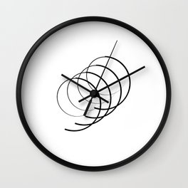 """ Eclipse Collection"" - Minimal Number Nine Print Wall Clock"