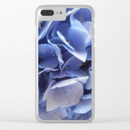 Light Blue Flowers Clear iPhone Case
