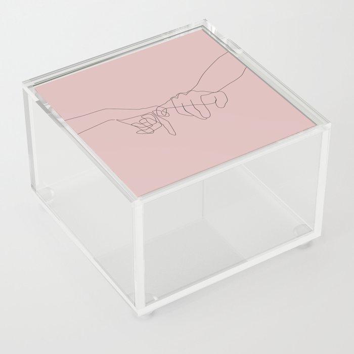 Blush Pinky Acrylic Box