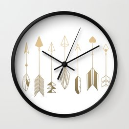 Be Brave Little Arrow (gold) Wall Clock