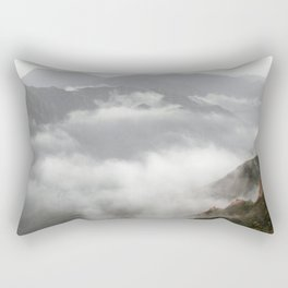 landscape mountains clouds over the clouds Rectangular Pillow