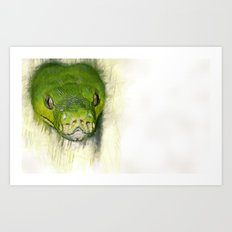 Python Art Art Print