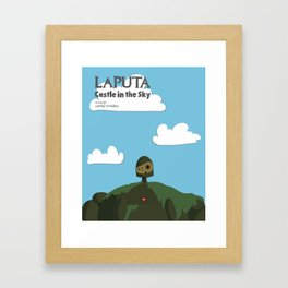 Laputa Castle in the Sky Framed Art Print