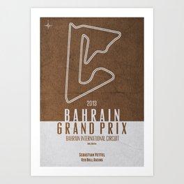 2013 Bahrain Grand Prix Art Print
