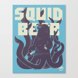 Squid-Bear Canvas Print