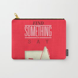 Literary Quote Poster — Title Poster Carry-All Pouch