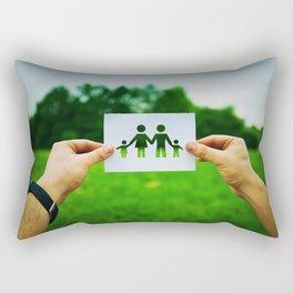 holding family symbol Rectangular Pillow