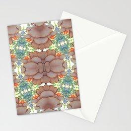 Pleurotus Ostreatus with Flammulina Velutipes Mushrooms Stationery Cards