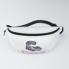 Alice floral designs - Cheshire cat entirely bonkers Fanny Pack