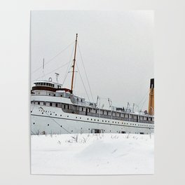 SS Keewatin in Winter White Poster
