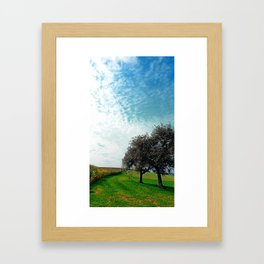 Cornfields, trees and lots of clouds | landscape photography Framed Art Print