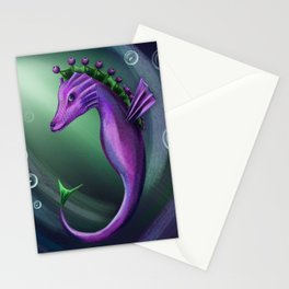 Blueberry sea horse Stationery Cards