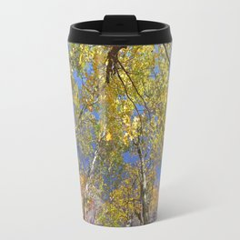 Brightly colored Autumn tree tops Travel Mug