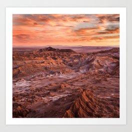 Desert orange Art Print