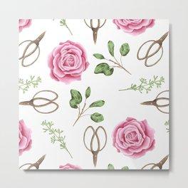 Rose Scissors #homedecor #livingroom Metal Print