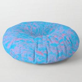 eruption, red on blue Floor Pillow