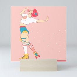 Skating Donuts Mini Art Print