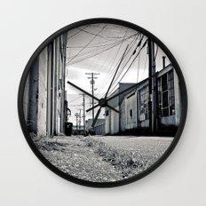 Old urban alley Wall Clock