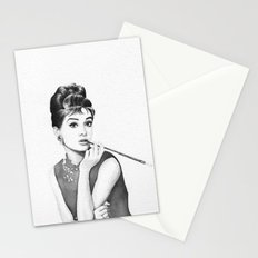 Audrey Hepburn Breakfast at Tiffanys Stationery Cards