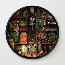 Cabinet of Curiosities (color) Wall Clock