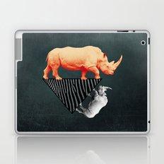 The orange rhinoceros who wanted to become a zebra Laptop & iPad Skin