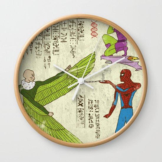 Hero-glyphics: Web-Slinger  Wall Clock