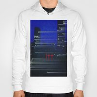 cityscape Hoodies featuring Cityscape  by eyedoublecross