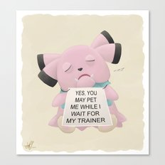 Waiting Snubbull Canvas Print