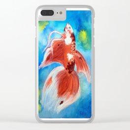 Koi Betta Fish Clear iPhone Case