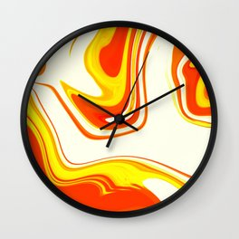 Abstract Fluid 18 Wall Clock