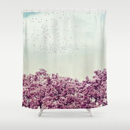colours of spring Shower Curtain