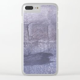 Dark blue gray Clear iPhone Case