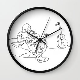 Kiss Me Wall Clock