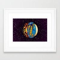 astrology Framed Art Prints featuring Astrology, Capricorn by Karl-Heinz Lüpke