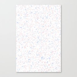 'Speckle Party' Lilac + Pink Dots Speckle Terrazzo Pattern Canvas Print