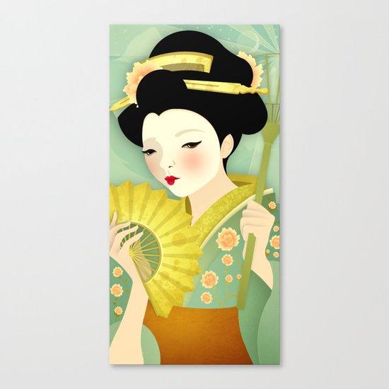 Geisha: Olive Canvas Print