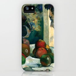 1886 - Gauguin - Still Life with Profile of Laval iPhone Case