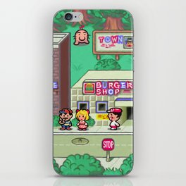 Earthbound town iPhone Skin