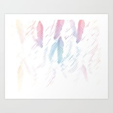 Feather Sketch Art Print