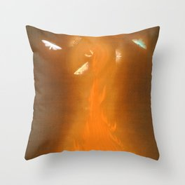 12,000pixel-500dpi - Hayami Gyoshu - Dance of Flames, Enbu - Digital Remastered Edition Throw Pillow