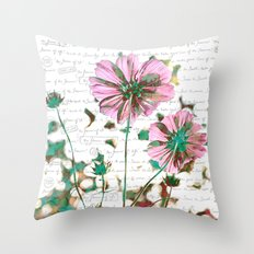 The Flower of Life - Free Hand Calligraphy! Throw Pillow