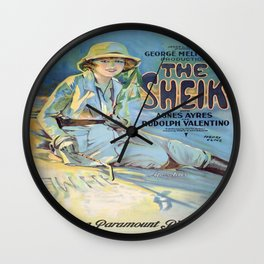 Vintage poster - The Sheik Wall Clock
